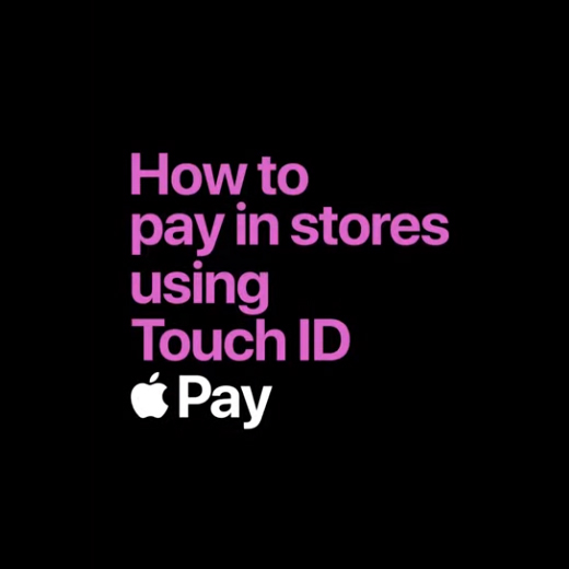 how to pay in store using touch id apple pay black